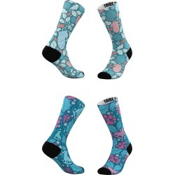 Women's Tribe Socks Assorted 2-Pack Winter Skater & Wintery Mix Crew Socks, Size One Size - Blue found on MODAPINS from Nordstrom for USD $25.00