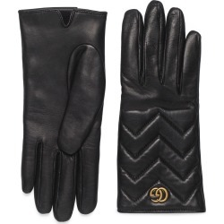 Women's Gucci Gg Logo Cashmere Lined Quilted Leather Gloves found on Bargain Bro India from Nordstrom for $630.00