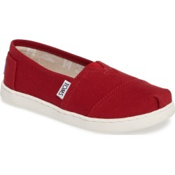 Toddler Toms 2.0 Classic Alpargata Slip-On, Size 12.5 M - Red