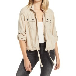Women's Treasure & Bond Linen Blend Field Jacket, Size X-Small - Brown found on Bargain Bro India from Nordstrom for $99.00