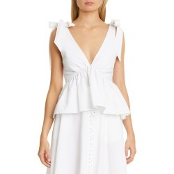 Women's Brock Collection Tie Strap Peplum Tank, Size 6 - Ivory found on Bargain Bro India from Nordstrom for $760.00