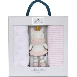Living Textiles Baby Bento 2-Pack Swaddle Blankets & Kenzie Stuffed Animal Gift Set, Size One Size - Pink found on Bargain Bro India from LinkShare USA for $49.99