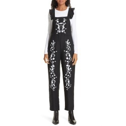 Women's Dolan Flounced Embroidered Jumpsuit