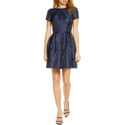 Women's Chi Chi London Zarya Fit & Flare Cocktail Dress, Size 8 - Blue found on MODAPINS from Nordstrom for USD $105.00