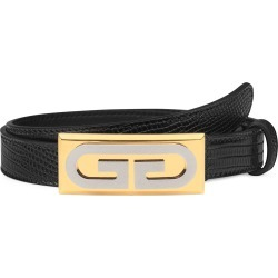 Women's Gucci G-Plaque Genuine Lizardskin Skinny Belt, Size 100 - Nero found on Bargain Bro Philippines from LinkShare USA for $318.75