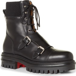 Men's Christian Louboutin Yetito Combat Boot, Size 9US - Black found on Bargain Bro from Nordstrom for USD $1,136.20