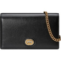 Women's Gucci Marina Leather Card Wallet On A Chain -