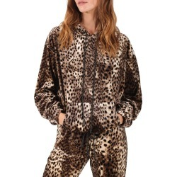 Women's Pam & Gela Cheetah Print Hoodie, Size Large - Brown found on MODAPINS from Nordstrom for USD $235.00