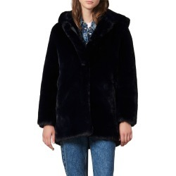 Women's Sandro Faux Fur Coat, Size 6 US - Blue found on Bargain Bro from Nordstrom for USD $429.40