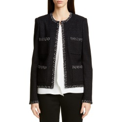 Women's St. John Collection Modern Ribbon Tweed Knit Jacket, Size 0 - Black found on Bargain Bro Philippines from Nordstrom for $637.98