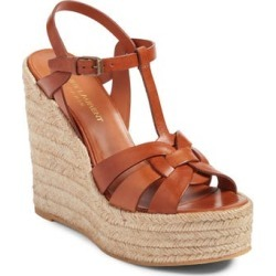 Women's Saint Laurent Tribute Espadrille Wedge, Size 6US / 36EU - Brown found on MODAPINS from NORDSTROM.com for $695.00