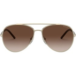 Prada 57mm Gradient Aviator Sunglasses - Oro Pallido/ Brown Gradient found on Bargain Bro from Nordstrom for USD $267.52