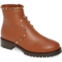 Women's Valentino Garavani Rockstud Genuine Shearling Lined Bootie, Size 5US / 35EU - Brown found on Bargain Bro Philippines from Nordstrom for $1275.00