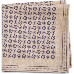 Men's Brunello Cucinelli Squares Silk Pocket Square, Size One Size - Beige found on Bargain Bro Philippines from Nordstrom for $245.00