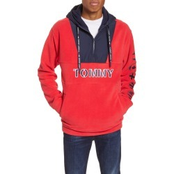 Men's Tommy Jeans Tjm Fleece Pullover Hoodie, Size Large - Red