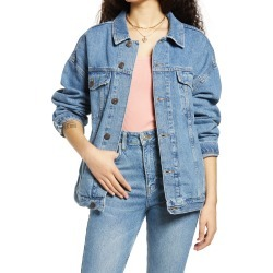Women's Bdg Urban Outfitters Women'S Oversize Denim Jacket, Size X-Small - Blue found on Bargain Bro Philippines from Nordstrom for $55.30