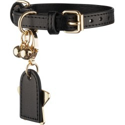 Tommy & Bella Leather Cat Collar, Size One Size - Black found on Bargain Bro Philippines from LinkShare USA for $55.00