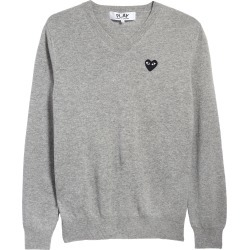 Men's Comme Des Garcons Play Black Heart Wool V-Neck Sweater found on MODAPINS from Nordstrom for USD $350.00