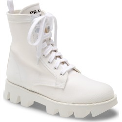 Women's Prada Rocksand Combat Boot, Size 5US - White found on Bargain Bro from Nordstrom for USD $680.20