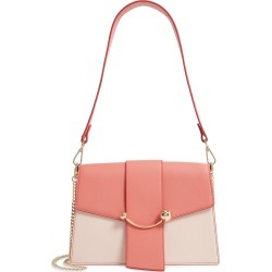 Strathberry Bicolor Crescent Calfskin Leather Shoulder Bag - Pink found on Bargain Bro India from LinkShare USA for $636.00