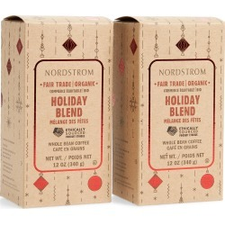 Nordstrom Coffee Holiday Blend Fair Trade Organic Whole Bean Coffee (2-Pack)