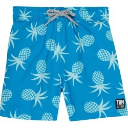 Toddler Boy's Tom & Teddy Pineapple Swim Trunks, Size 3-4Y - Blue found on Bargain Bro India from Nordstrom for $59.95