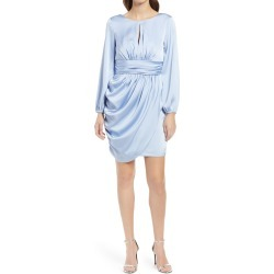 Women's Chi Chi London Eva Long Sleeve Minidress, Size 12 - Blue found on MODAPINS from Nordstrom for USD $120.00