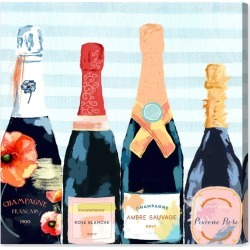 Oliver Gal Champagne Flower Canvas Wall Art, Size 24x24 - Blue found on Bargain Bro India from Nordstrom for $225.00