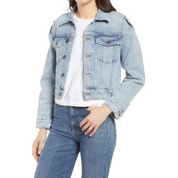 Women's Jeanerica Crop Acid Wash Denim Jacket, Size Large - Blue found on Bargain Bro Philippines from Nordstrom for $150.00