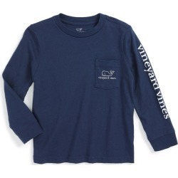 Toddler Boy's Vineyard Vines Vintage Whale Graphic Long Sleeve T-Shirt, Size 3T - Blue found on Bargain Bro India from Nordstrom for $29.50