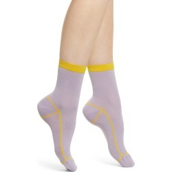 Women's Hysteria By Happy Socks Lily Rib Ankle Socks, Size One Size - Purple found on MODAPINS from Nordstrom for USD $18.00