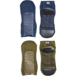 Women's Arebesk Moto Assorted 2-Pack No-Slip Socks, Size Medium - Green found on MODAPINS from Nordstrom for USD $38.00