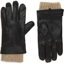 Men's Nordstrom Leather Cashmere Lined Gloves, Size Small - Black found on MODAPINS from Nordstrom for USD $44.75