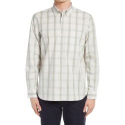 Men's Club Monaco Slim Fit Plaid Button-Down Shirt, Size XX-Large - White found on Bargain Bro from Nordstrom for USD $68.02