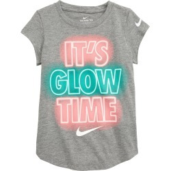 Toddler Girl's Nike Kids' Nkg It'S Glow Time Graphic Tee, Size 2T - Metallic found on Bargain Bro from Nordstrom for USD $13.68
