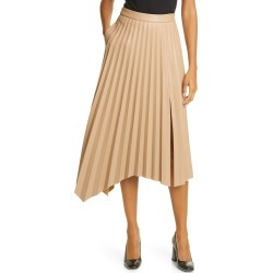 Women's Jonathan Simkhai Jayla Pleated Asymmetrical Faux Leather Skirt, Size 8 - Brown found on Bargain Bro Philippines from Nordstrom for $425.00