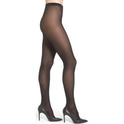 Women's Wolford Velvet De Luxe Semi-Opaque Tights, Size X-Large - Black found on MODAPINS from LinkShare USA for USD $49.00