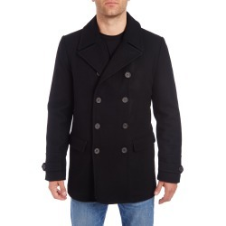 Men's Vince Camuto Water Resistant Wool Blend Peacoat, Size XX-Large - Black
