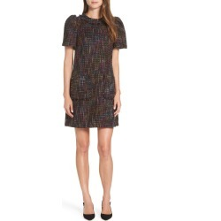 Women's 1901 Tweed Shift Dress, Size 12 - Black found on MODAPINS from Nordstrom for USD $139.00