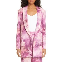 Women's Moschino Paint Print Long Blazer, Size 8 US - Pink found on MODAPINS from Nordstrom for USD $756.00