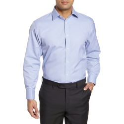 Men's Nordstrom Men's Shop Traditional Fit Herringbone Dress Shirt, Size 15 - 34/35 - Blue found on Bargain Bro Philippines from Nordstrom for $44.75