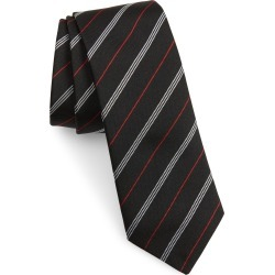 Men's Burberry Manston Stripe Silk Tie, Size One Size - Black found on Bargain Bro India from Nordstrom for $190.00