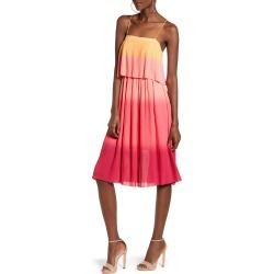 Women's Leith Pleated Midi Dress, Size XX-Small - Coral found on Bargain Bro India from Nordstrom for $89.00
