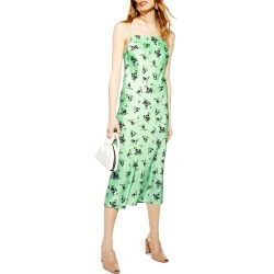 Women's Topshop Apple Flower Satin Slip Dress