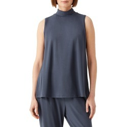 Women's Eileen Fisher Sleeveless Mock Neck Top, Size Small - Blue found on Bargain Bro Philippines from Nordstrom for $98.00