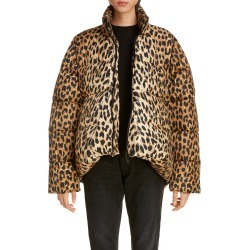 Women's Balenciaga Leopard Print Nylon Cocoon Puffer Coat, Size 10 US - Beige found on Bargain Bro Philippines from LinkShare USA for $1493.98