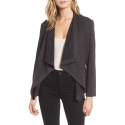 Women's Cupcakes And Cashmere Faux Suede Waterfall Jacket, Size Medium - Grey found on Bargain Bro India from Nordstrom for $148.00