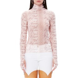 Women's Afrm Zadie Semi Sheer Turtleneck found on MODAPINS from Nordstrom for USD $38.00