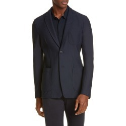 Men's Giorgio Armani Classic Fit Knit Blazer, Size 42 US - Blue found on MODAPINS from LinkShare USA for USD $1017.00