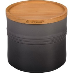 Le Creuset Glazed Stoneware 1 1/2 Quart Storage Canister With Wooden Lid, Size One Size - Grey found on Bargain Bro India from LinkShare USA for $50.00